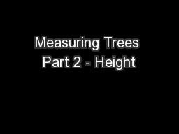 Measuring Trees Part 2 - Height