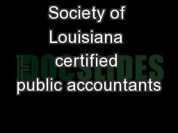 Society of Louisiana certified public accountants