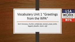 Vocabulary Unit 1