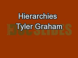 Hierarchies Tyler Graham