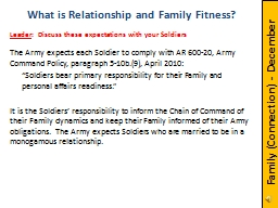 The Army expects each Soldier to comply with AR 600-20, Army Command Policy, paragraph 5-10b.(9), A PowerPoint PPT Presentation