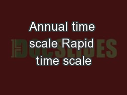Annual time scale Rapid time scale