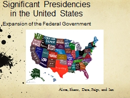 Significant Presidencies in the United States