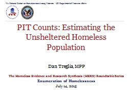 Dan Treglia, MPP The Homeless Evidence and Research Synthesis (HERS) Roundtable Series