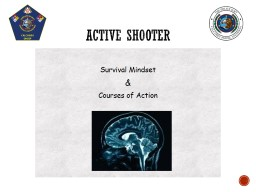 Survival Mindset & Courses of Action