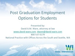 Post Graduation Employment Options for Students