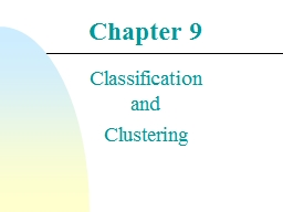 Chapter  9 Classification and