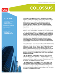 PROPERTY AND CASUALTY SOLUTIONS COLOSSUS AT A GLANCE C