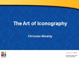 The Art of Iconography Christian