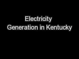 Electricity Generation in Kentucky