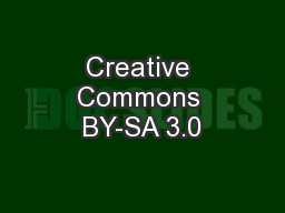 Creative Commons BY-SA 3.0