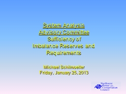 System Analysis Advisory Committee
