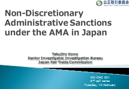 Non- Discretionary Administrative Sanctions