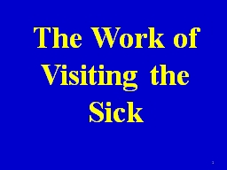 The Work of Visiting the Sick