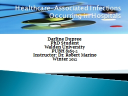 Healthcare-Associated  I PowerPoint PPT Presentation