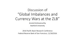 Discussion of  �Global Imbalances and Currency Wars at the ZLB�