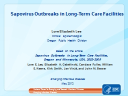 Lore Elizabeth Lee Clinical Epidemiologist