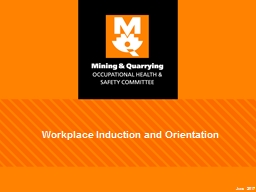 Workplace Induction and Orientation PowerPoint PPT Presentation