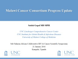 Malawi Cancer Consortium Overview