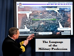 The Language of the Military Profession PowerPoint PPT Presentation