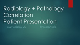 Radiology   Pathology Correlation