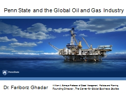 Penn State and the Global Oil and Gas Industry
