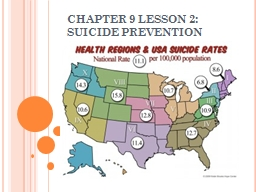 CHAPTER 9 LESSON 2: SUICIDE PREVENTION
