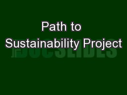 Path to Sustainability Project