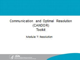 Communication and Optimal Resolution