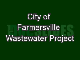 City of Farmersville Wastewater Project