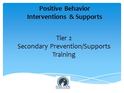 Tier 2 Secondary Prevention/Supports PowerPoint PPT Presentation
