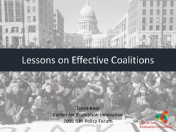 Lessons on Effective  Coalitions