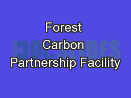 Forest Carbon Partnership Facility