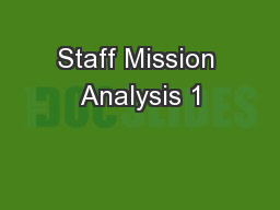 Staff Mission Analysis 1
