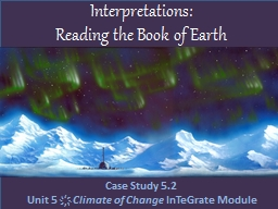 Interpretations:  Reading the Book of Earth