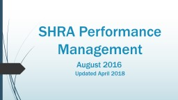 SHRA Performance Management