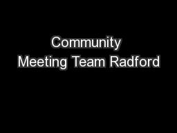 Community Meeting Team Radford