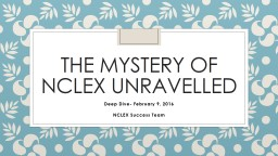 The Mystery of  nclex   unravelled