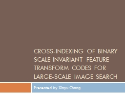 Cross-Indexing of Binary Scale Invariant Feature