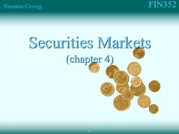 Securities  Markets (chapter