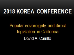 Popular sovereignty and direct legislation in California