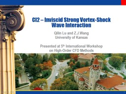 CI2  � Inviscid Strong Vortex-Shock Wave Interaction