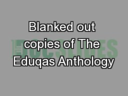 Blanked out copies of The Eduqas Anthology