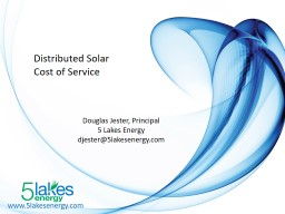 www.5lakesenergy.com Distributed Solar