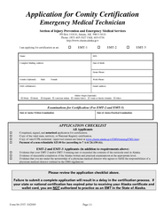 Form     Page  Application for Comity Certification Em