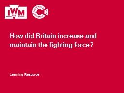 How did Britain increase and