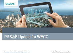 PSS®E Update for WECC Schedule PowerPoint PPT Presentation