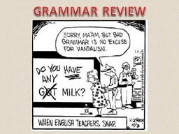 GRAMMAR REVIEW CAPITALIZATION