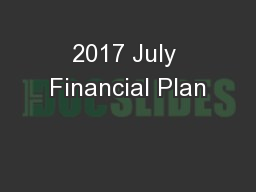 2017 July Financial Plan