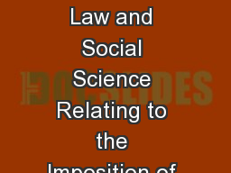 Fine by Me: A Judicial Primer on the Law and Social Science Relating to the Imposition of Fines in